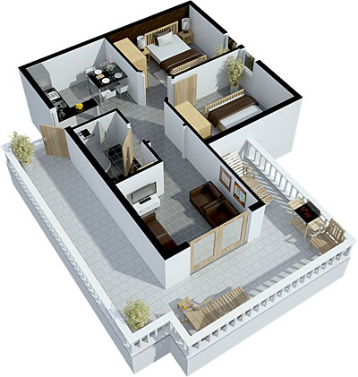 3rd floor apartment